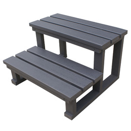 Two Tier WPC Spa Steps - Grey Color