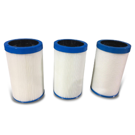 215 x 125mm Cam Lock Filter Kit 2 x Pleated and 1 x Purezone
